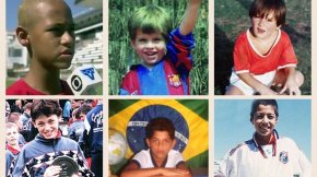 Barça's players when they were kids